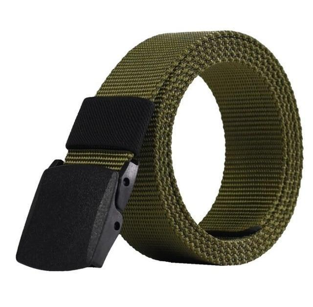 Casual Military Grade Polymer Buckle Nylon Belt AmericanGalore Army Green