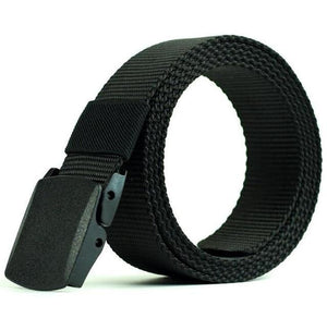 Casual Military Grade Polymer Buckle Nylon Belt AmericanGalore Black