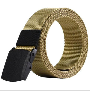 Casual Military Grade Polymer Buckle Nylon Belt AmericanGalore Khaki