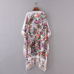Fall Vintage Cardigan Outwear Floral Printed Women Daily Shirts & Tops - AmericanGalore