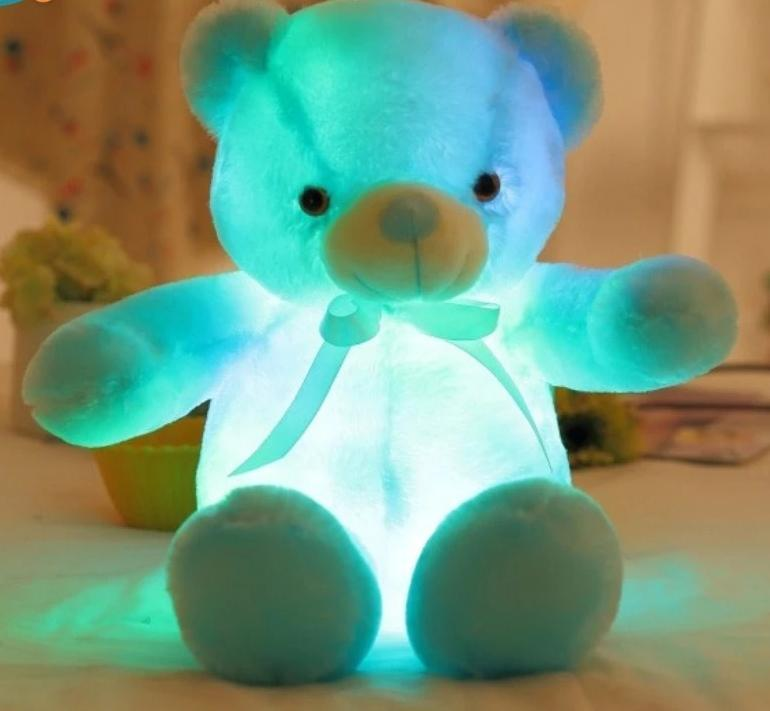 LED Teddy Bear AmericanGalore Blue