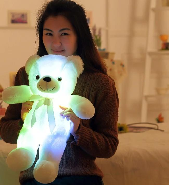 LED Teddy Bear AmericanGalore White