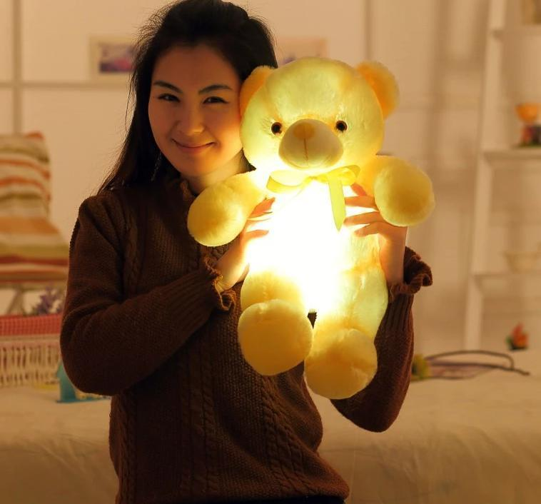 LED Teddy Bear AmericanGalore Yellow