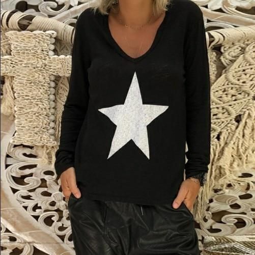 Long Sleeve Fall New Fashion Holiday Casual Lady Daily Shift Tops AmericanGalore Black S