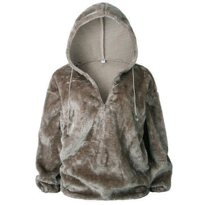 Long Sleeve Hoodie Sweatshirt Hooded Jumper Sweater Pullover Tops Coat AmericanGalore Brown S
