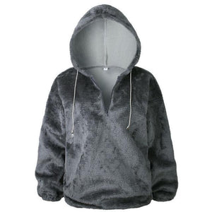 Long Sleeve Hoodie Sweatshirt Hooded Jumper Sweater Pullover Tops Coat AmericanGalore Gray S