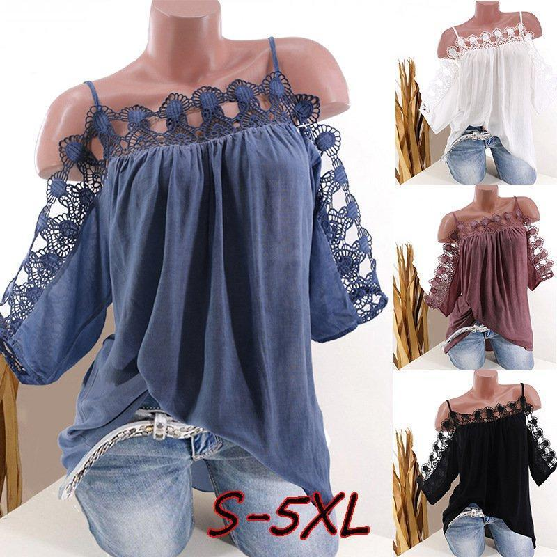 Strap Women Lace Edge Summer Casual Tops AmericanGalore