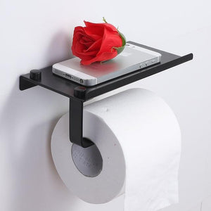 Tissue Holder with Mobile Rack AmericanGalore Black