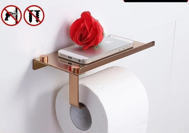 Tissue Holder with Mobile Rack AmericanGalore Rose Gold