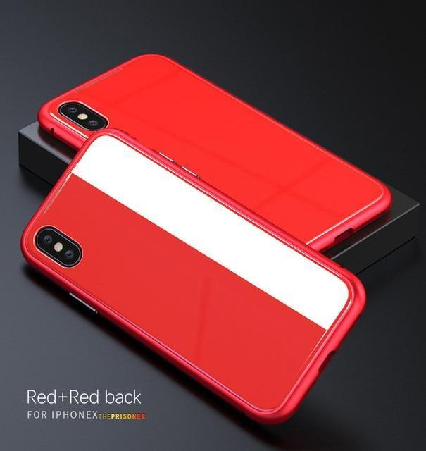 Ultra Slim Magnetic Anti-Shock Case AmericanGalore For iphone 7 Red