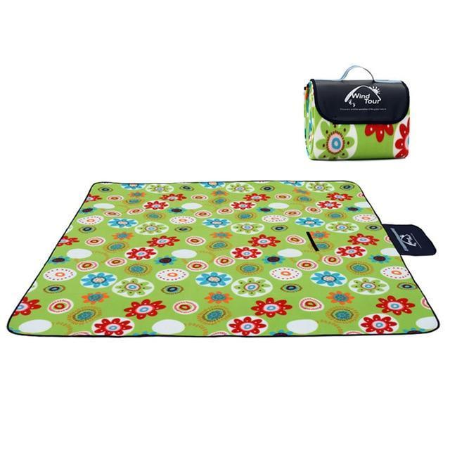 Wind Tour Waterproof Picnic Blanket AmericanGalore Multi color flower