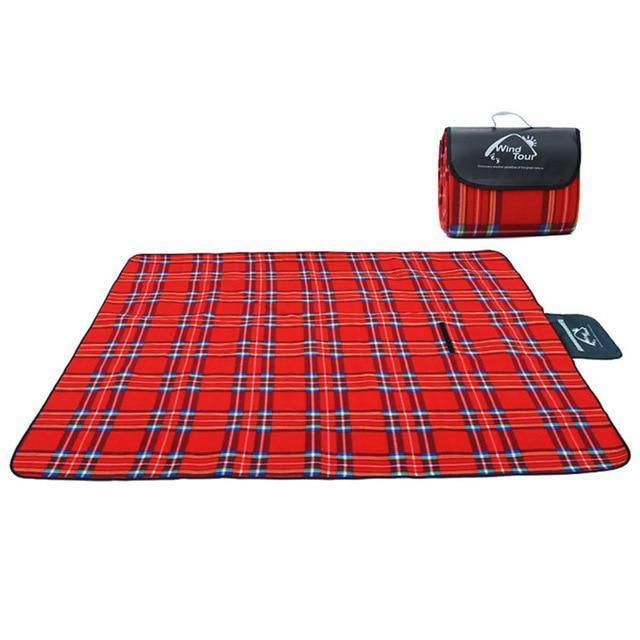 Wind Tour Waterproof Picnic Blanket AmericanGalore Red
