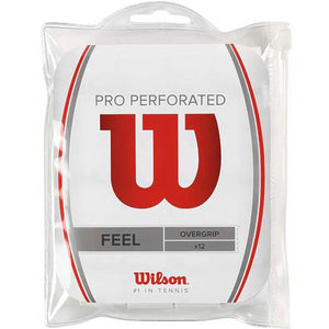 Wilson Pro Overgrip Perforated White 12 Pack