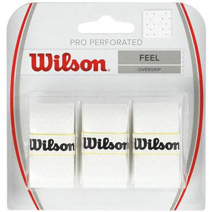 Wilson Pro Overgrip Perforated White 3 Pack