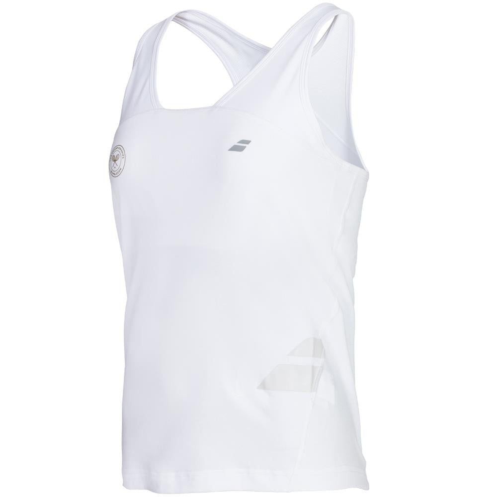 Babolat Girls Performance Wimbledon Racer-back Tank - White ?id=14402353031