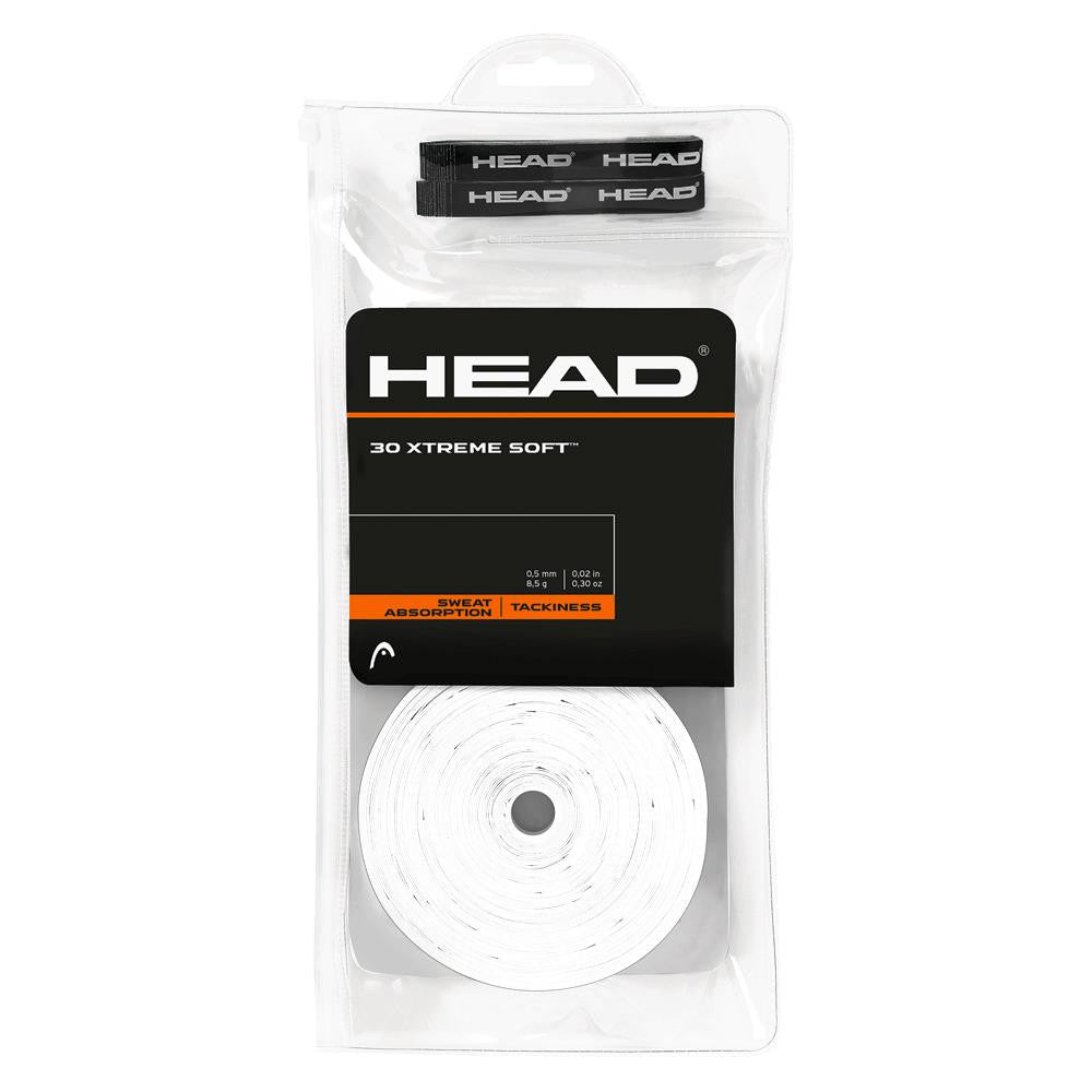 HEAD XTREME Soft Overgrips 30 Pack White