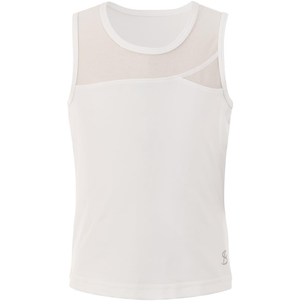 Sofibella Girls Full Back Tank Top - White