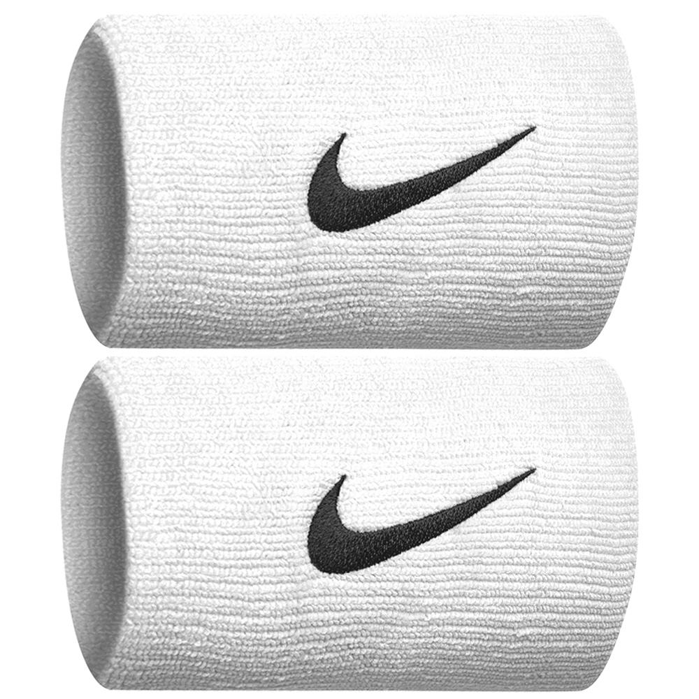 Nike Swoosh Premier Dri-Fit Doublewide Wristbands 2.0 - White/Black