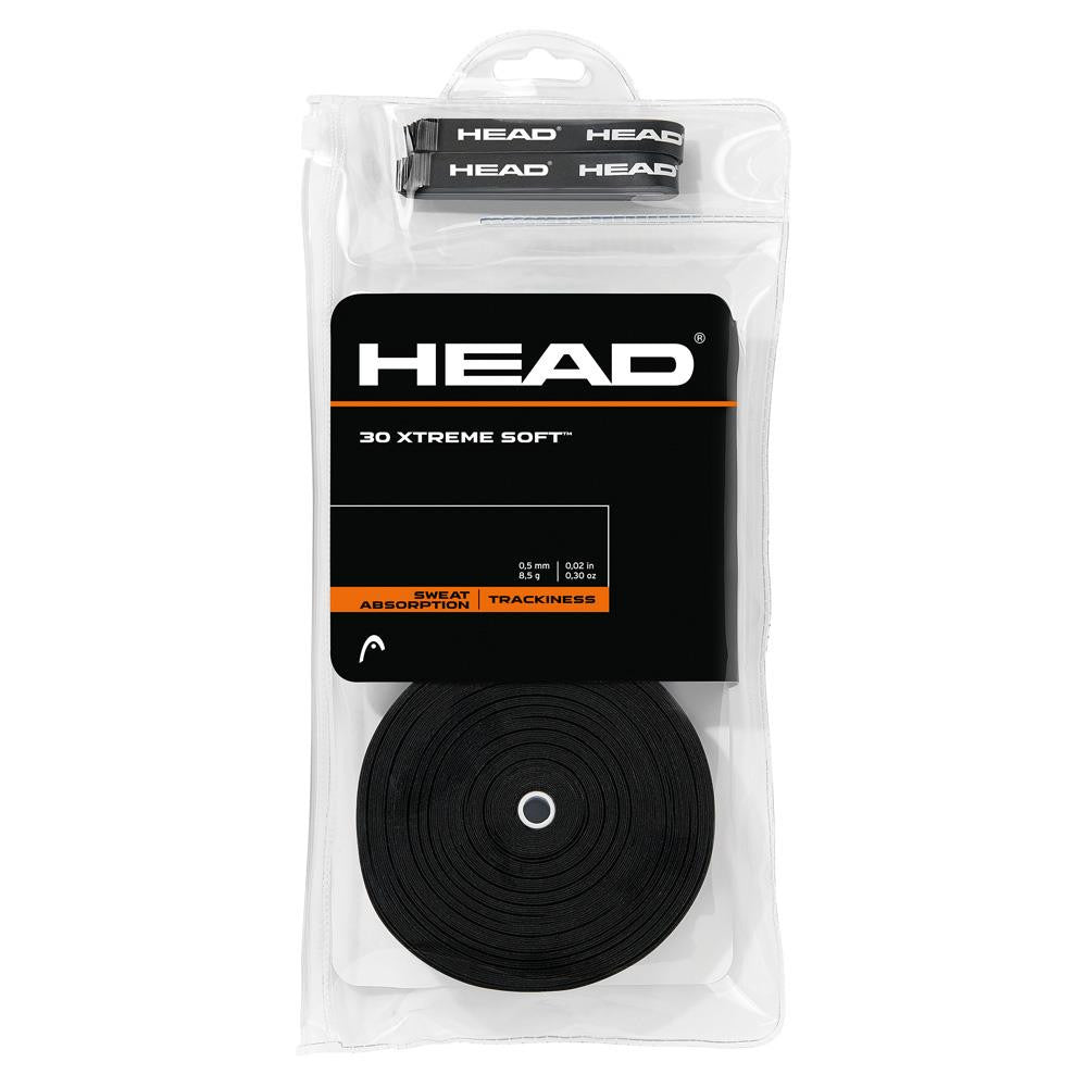 HEAD XTREME Soft Overgrips 30 Pack Black