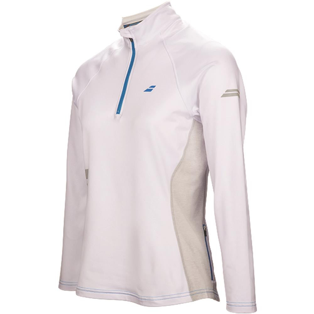 Babolat Women's Core 1/2 Zip Longsleeve - White