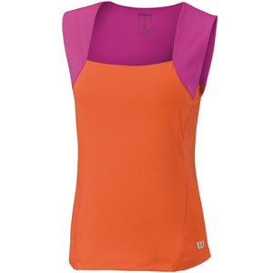 Wilson Girls Summer Motion Tank Orange/ Pink