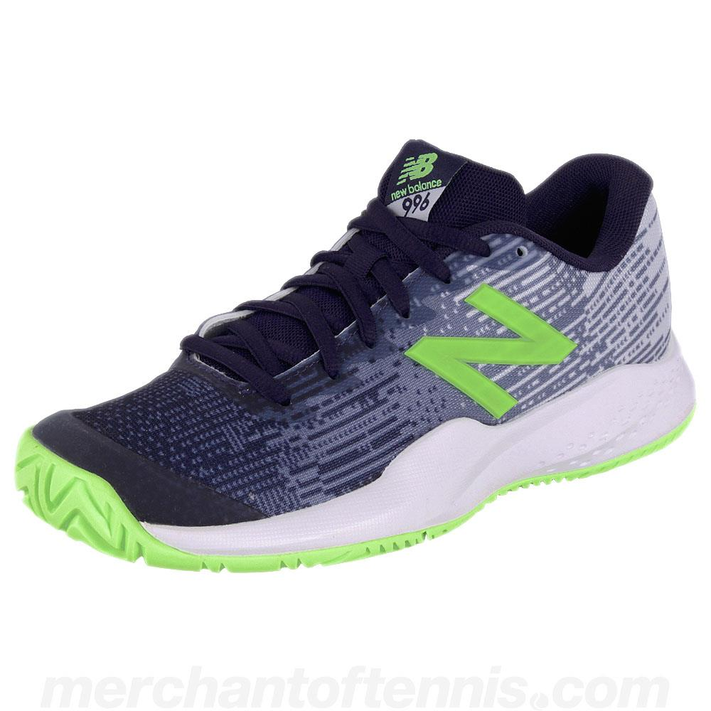 New Balance Junior Kc996v3 - Navy/Lime