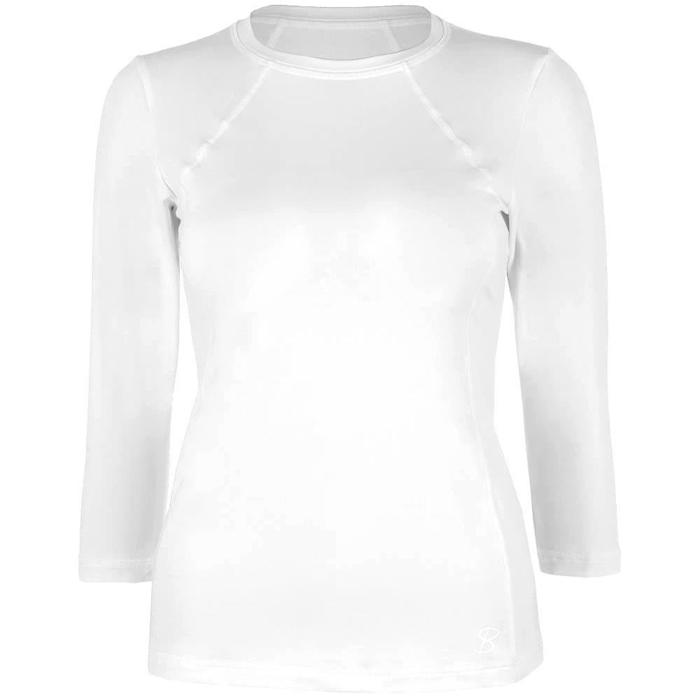 Sofibella Women's UV Staples Classic 3/4 Sleeve Top - White