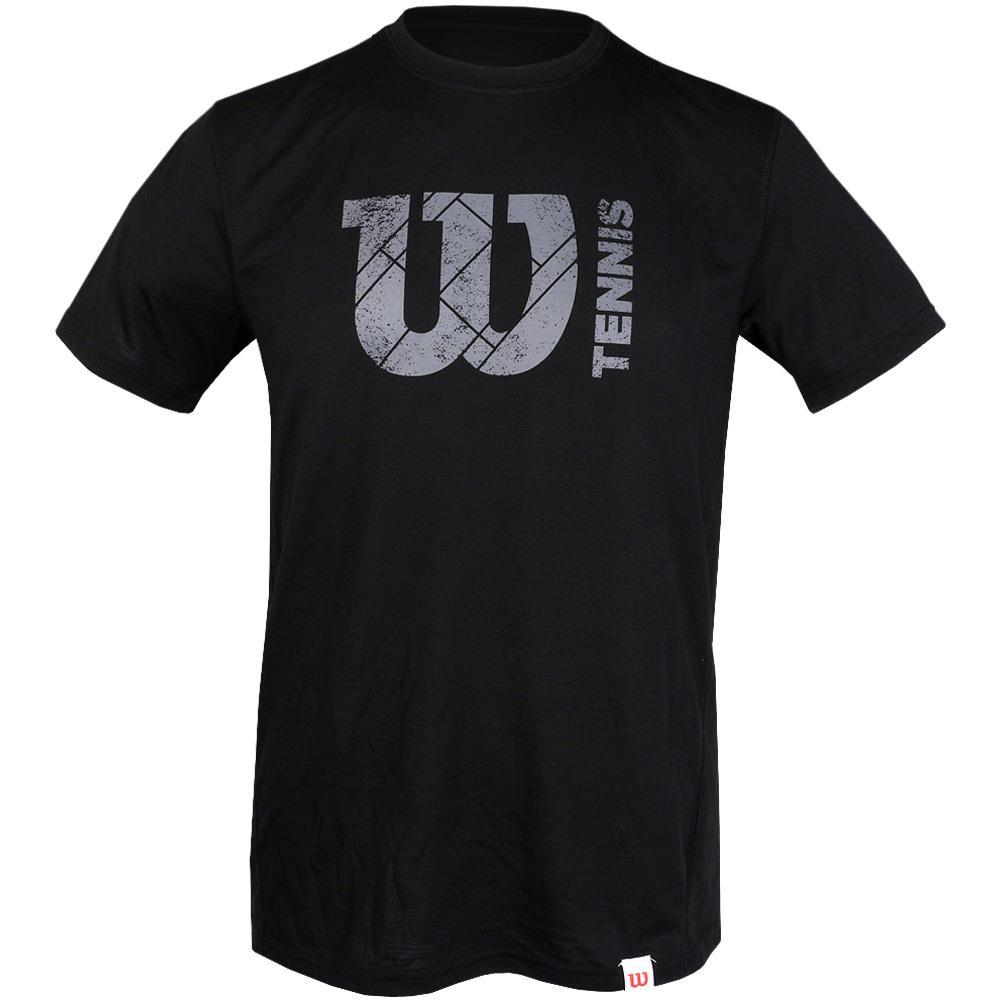 Wilson Tech Court Logo Tee - Black