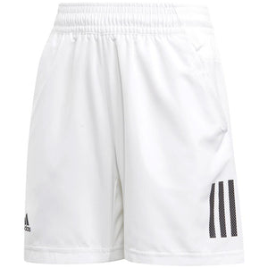 adidas Boys Club 3 Stripe Shorts - White