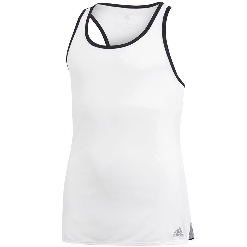 adidas Girls Club Tank - White