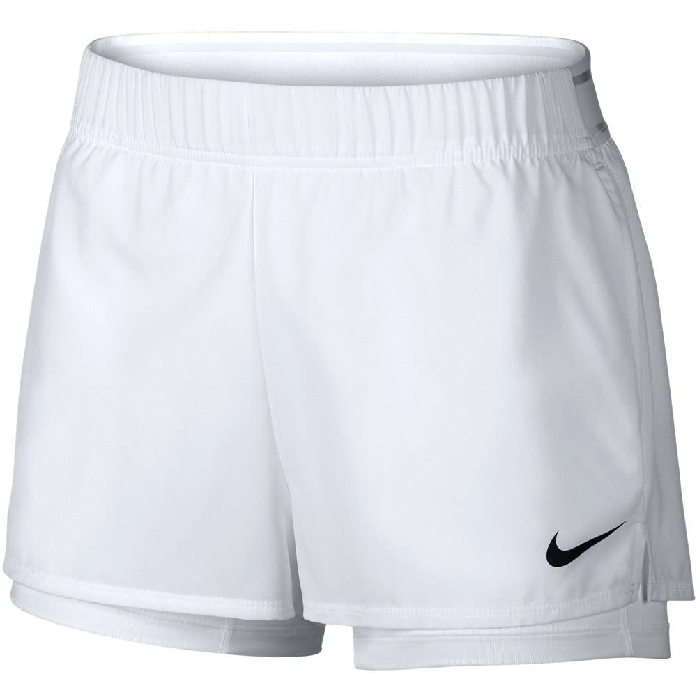 Nike Women's Court Flex 2 in 1 Short - White