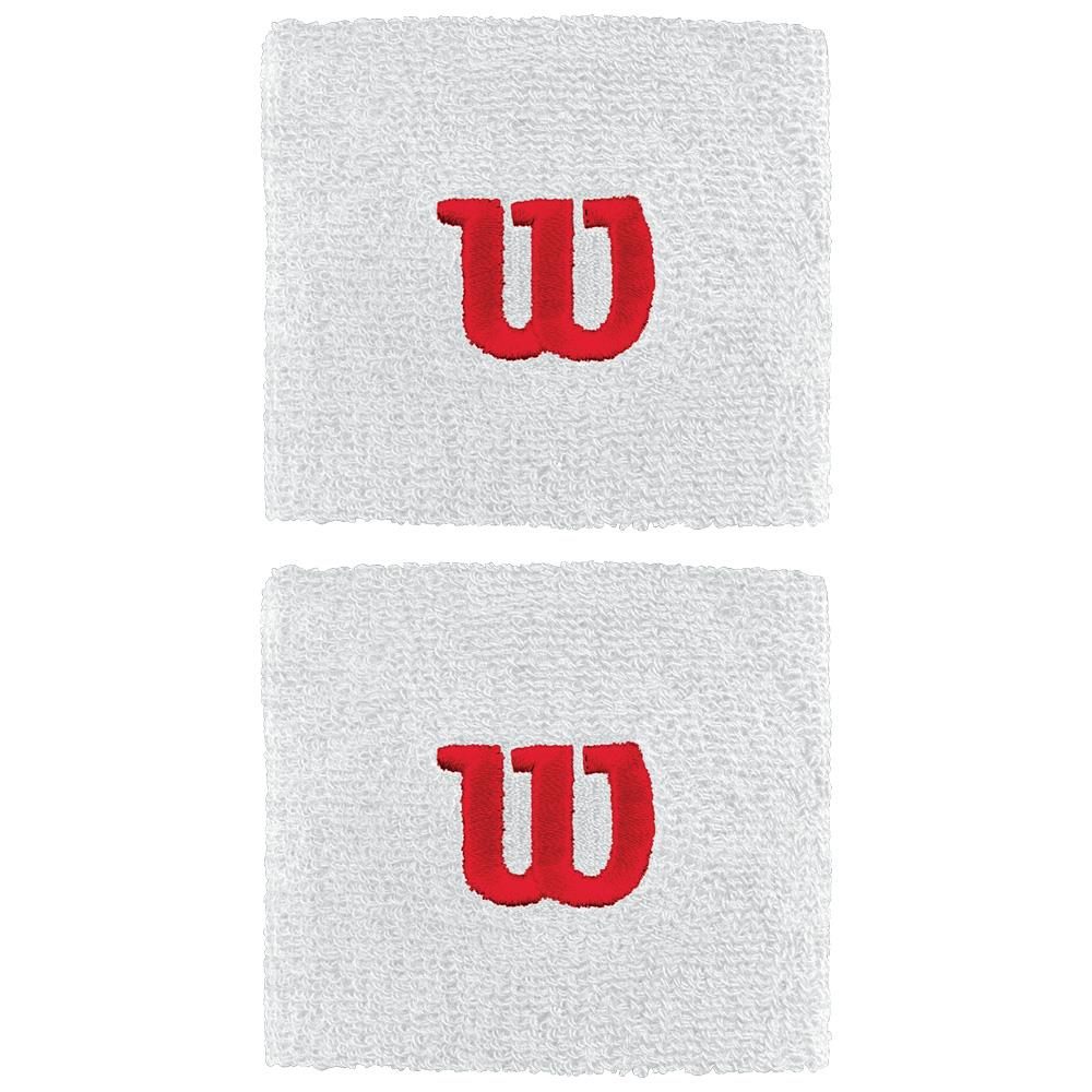 Wilson W Wristband - 2 Pack - White/Red