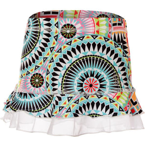 Sofibella Girls UV Colors Ruffle Skort - Medallion Print