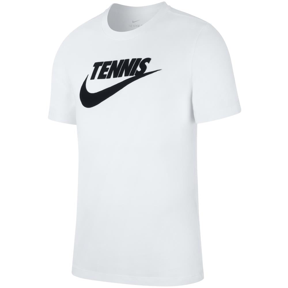 Nike Men's Tennis Swoosh Graphic Tee - White/Black