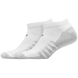 New Balance Unisex Cool Max No Show Socks 2 Pack - White