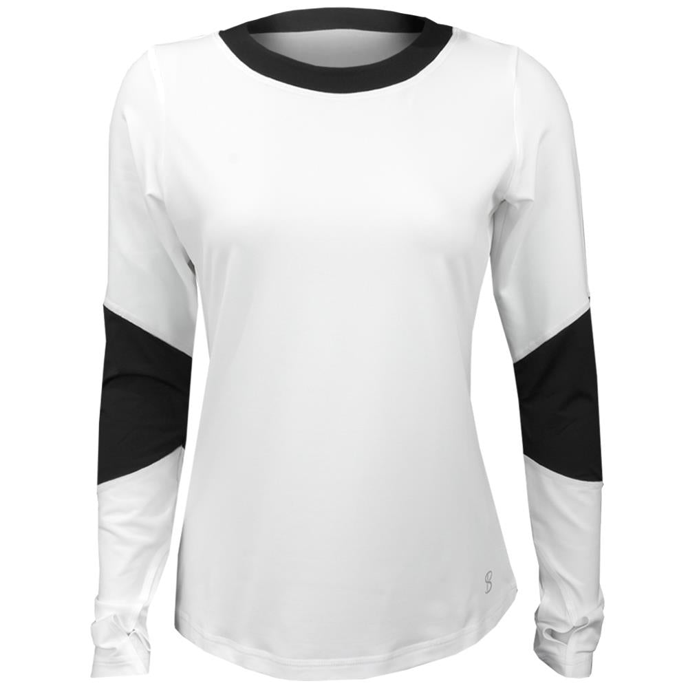 Sofibella Women's Ravello Longsleeve Top - White/Black