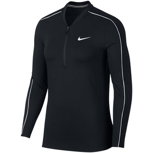 Nike Women's Court Dry 1/2 Zip Longsleeve - Black