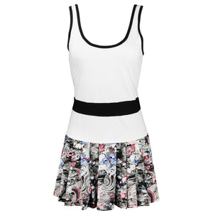 Eleven Women's Volley Dress - White Phoenix Print