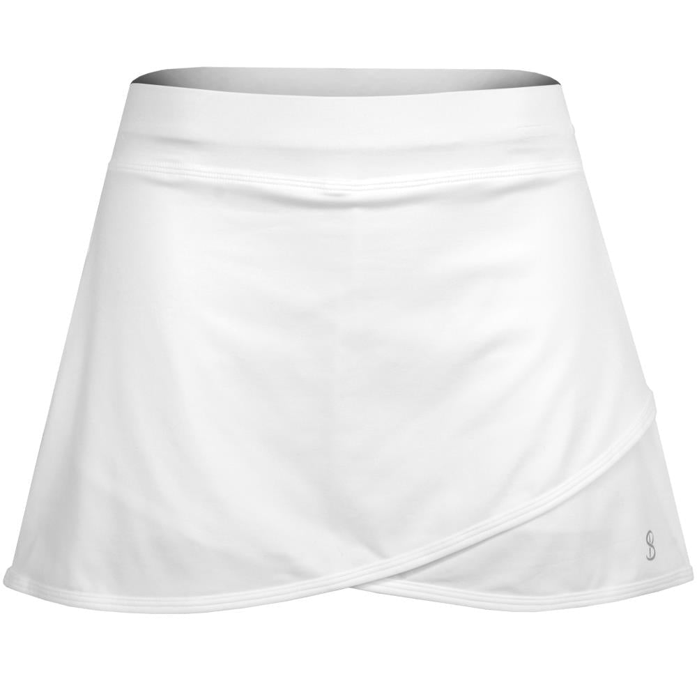 "Sofibella Women's UV Staples 14"" Skort - White"