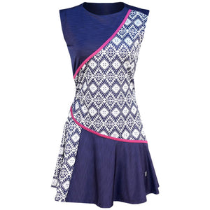 EleVen Women's Iman Traid Dress - Print Navy