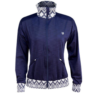 EleVen Women's Iman On Track Jacket - Blue Nights/Print