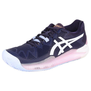 Asics Women's Gel-Resolution 8 - Clay - Peacoat/White