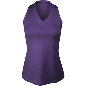 Sofibella Women's UV Colors Athletic Racerback Tank - Plum