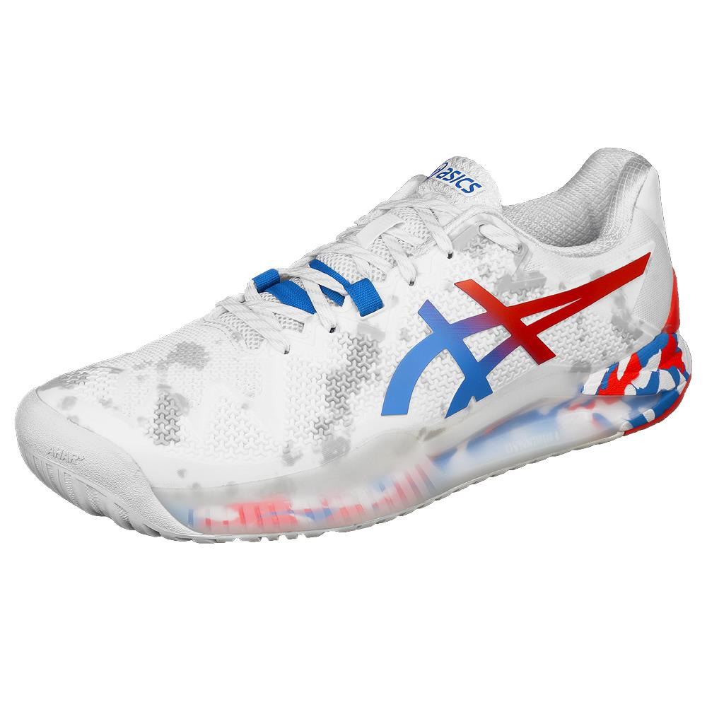 Asics Men's Gel-Resolution 8 - L.E. Retro Tokyo - White/Electric Blue