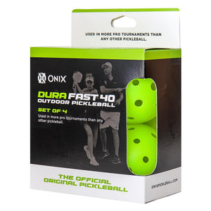 Onix Pickleball Dura Fast 40 Outdoor 4 Pack - Neon Green