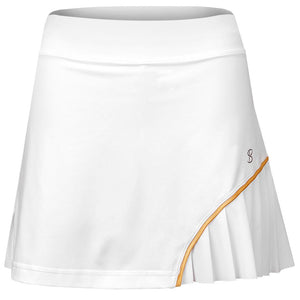 "Sofibella Women's Club Lux 14"" Skort - White/Gold"