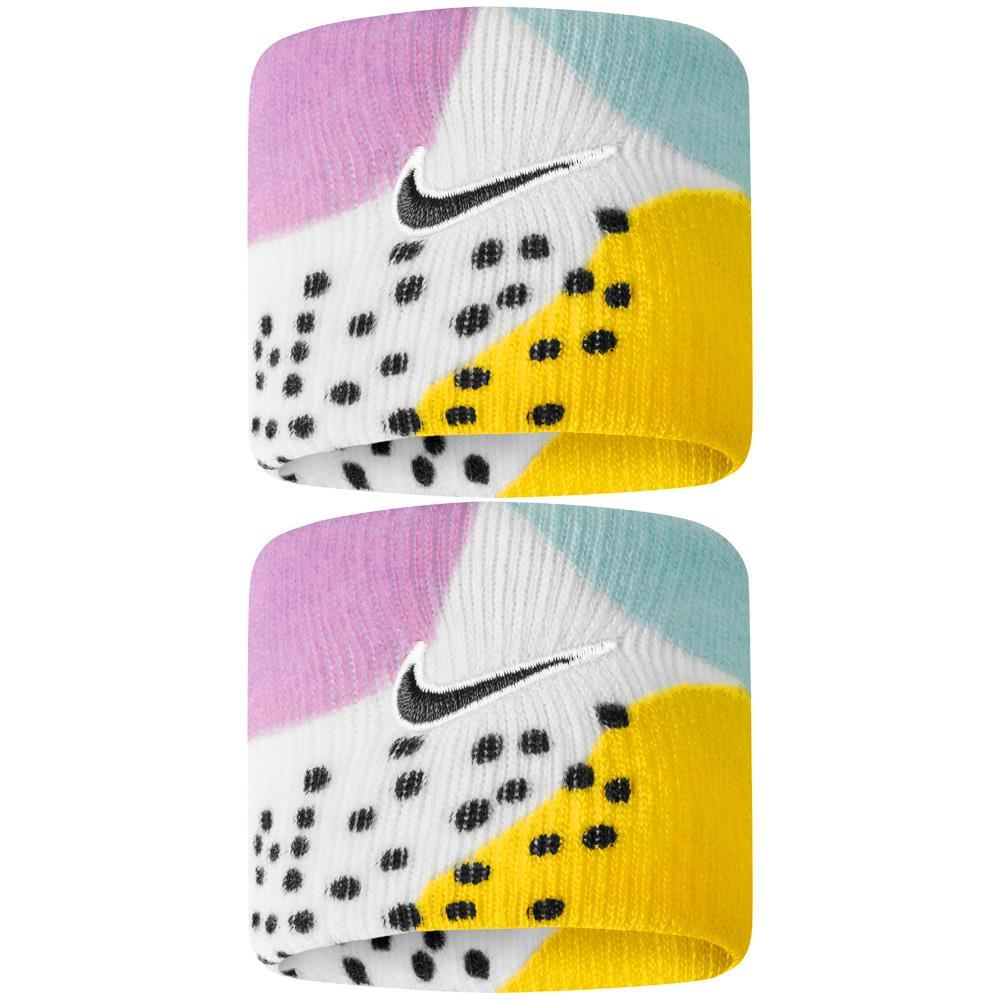 Nike Swoosh Premier Graphic DriFit Wristbands - Valerian Blue/Opti Yellow