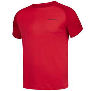 Babolat Boys Play Crew Neck Tee - Red