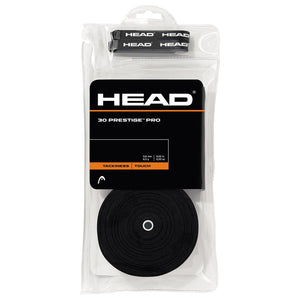 HEAD Prestige Pro Overgrip 30 Pack - Black