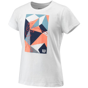 Wilson Girls Prism Play Tee - White